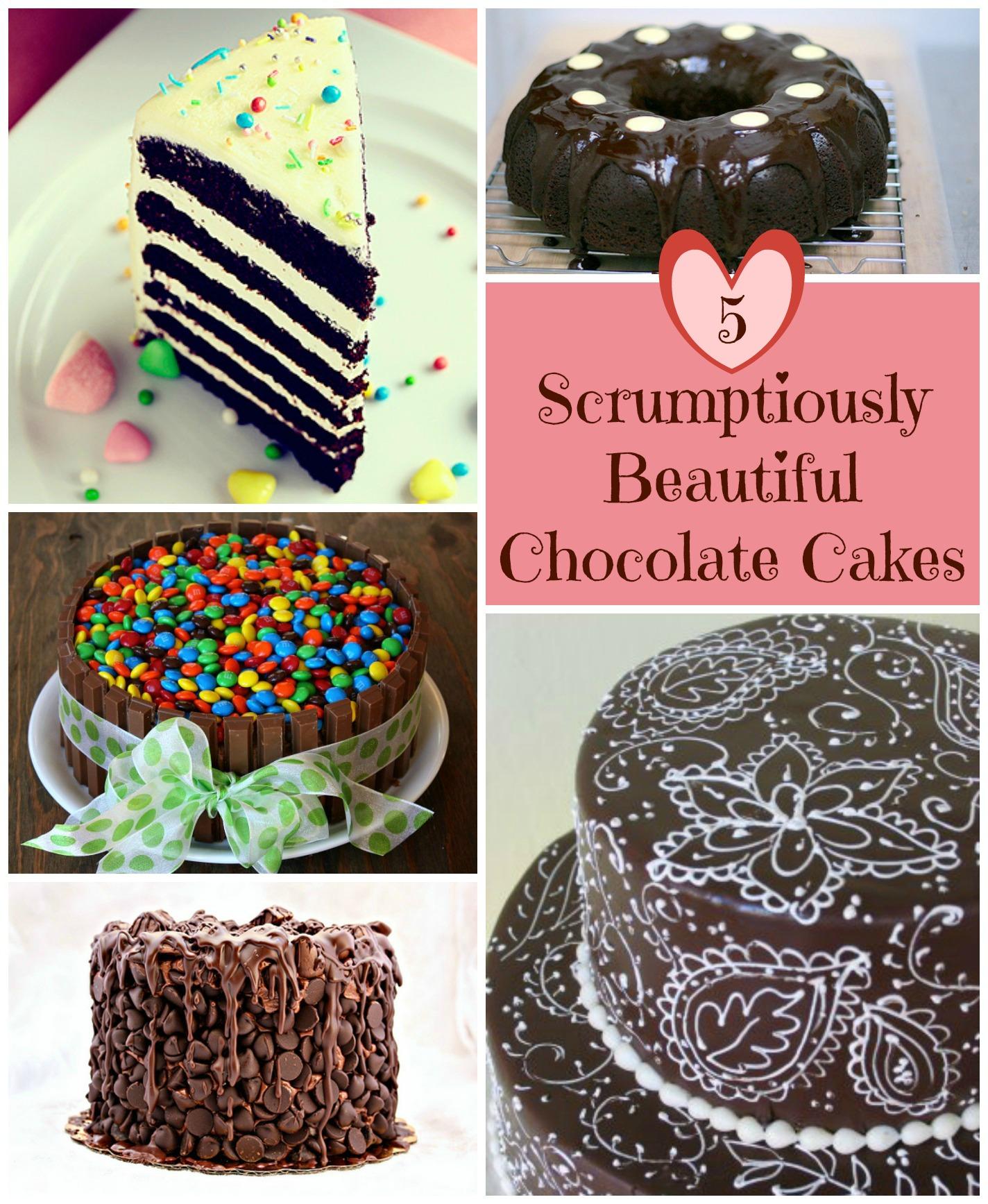 5 Scrumptiously Beautiful Chocolate Cake Design Ideas