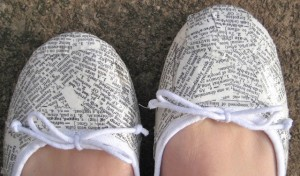 Dictionary Shoos (or even newspaper)