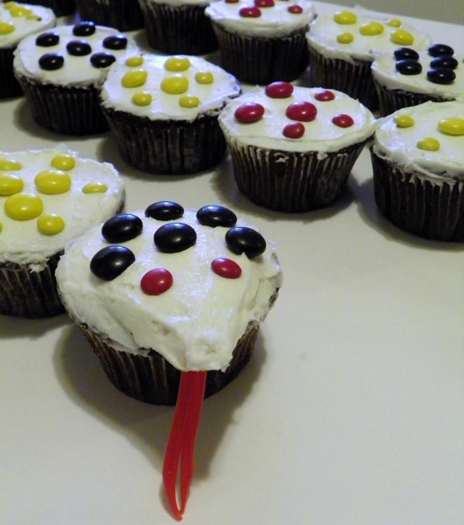 Snake Cupcakes  Celebrating family