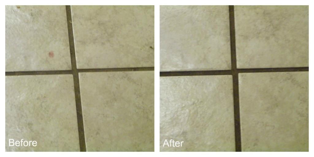 cleaning the floor with #heinzvinegar