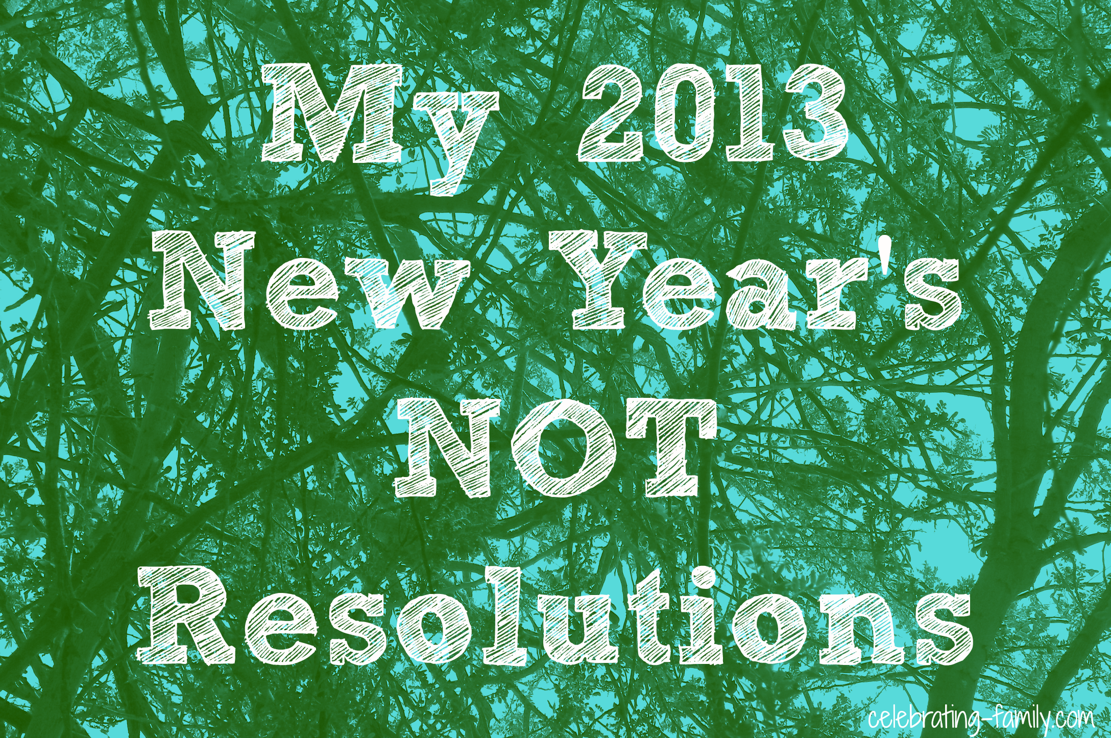 2013 New Year's NOT Resolutions