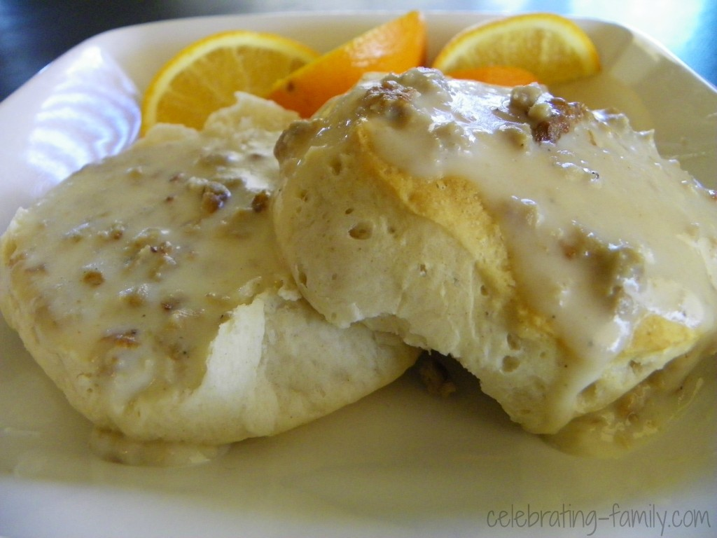 Vegetarian Biscuits and Gravy