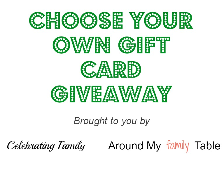 Choose Your Own Gift Card Giveaway