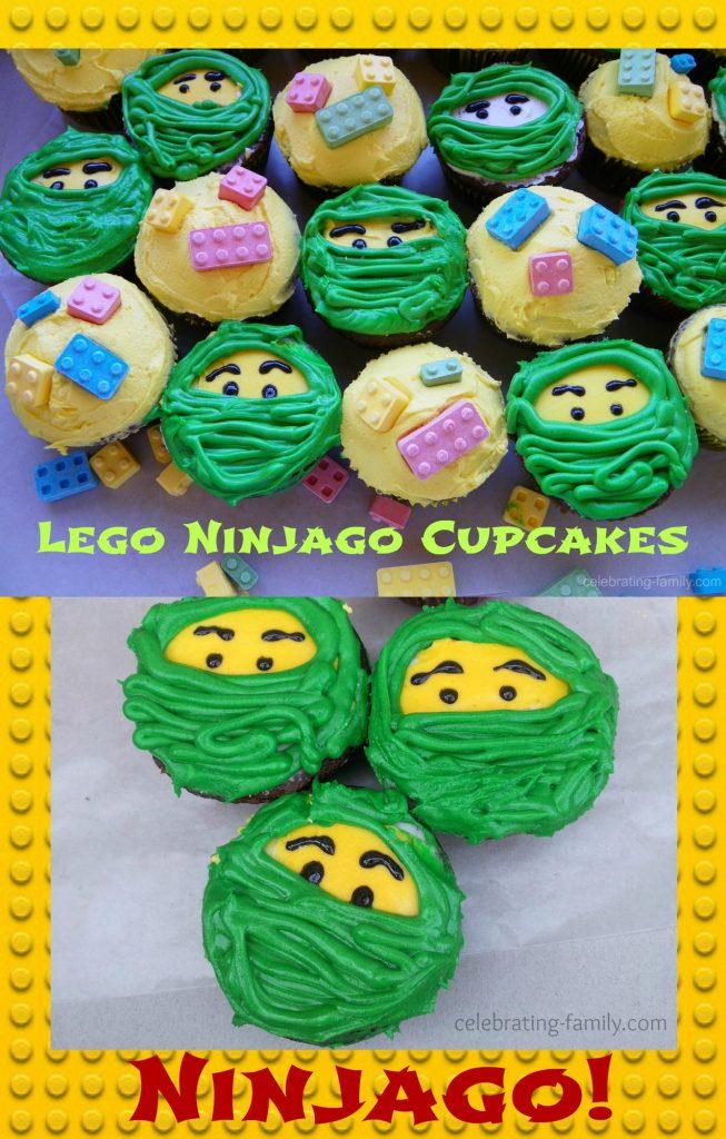 LEGO Ninjago cups cakes pinnable image