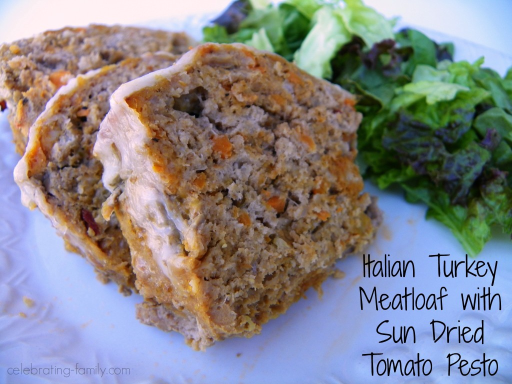 Italian Turkey Meatloaf with Sun Dried Tomato Pesto