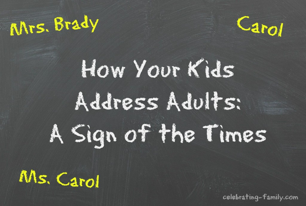 How should children address adults