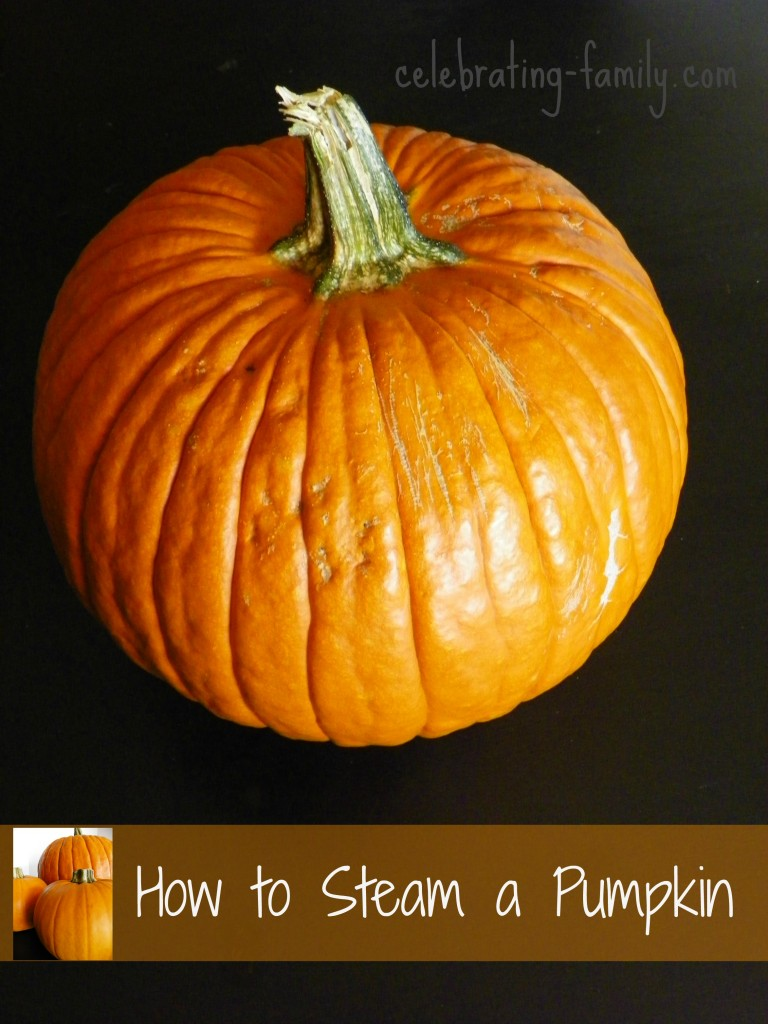 How to Steam a Pumpkin - never buy canned again!