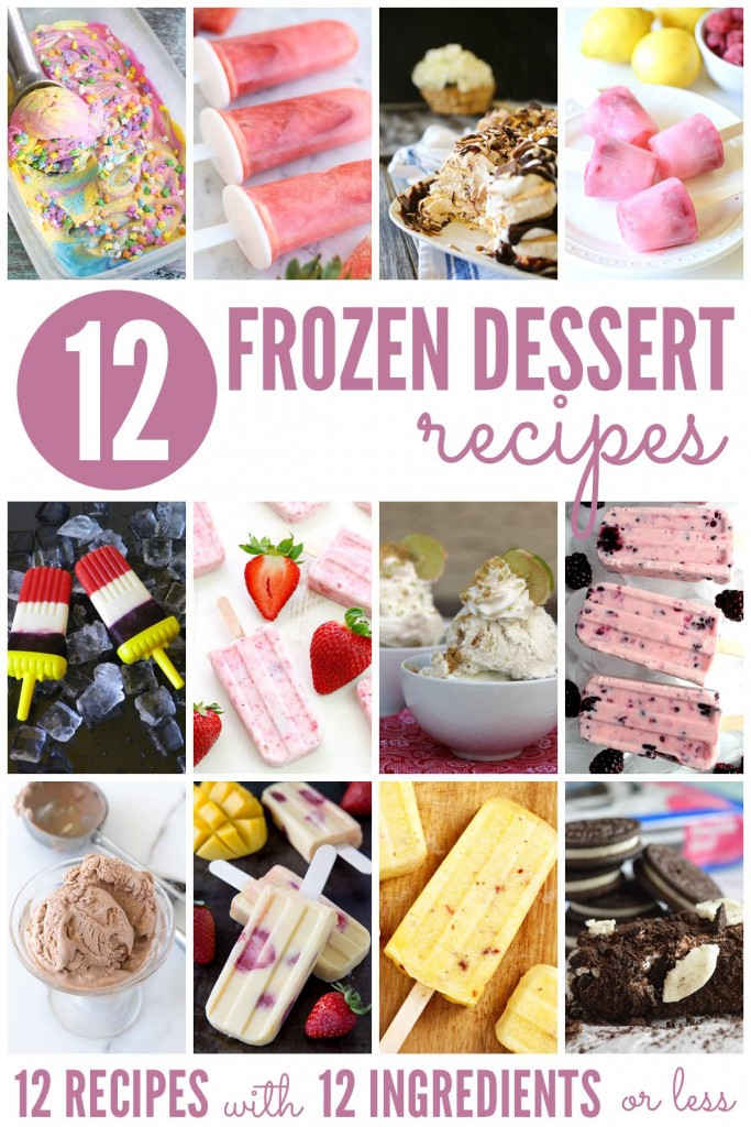 12 frozen dessert recipes