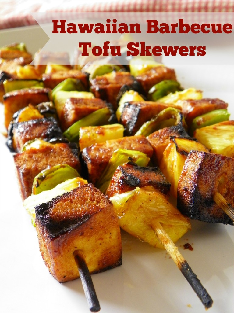Hawaiian Barbecue Tofu Skewers