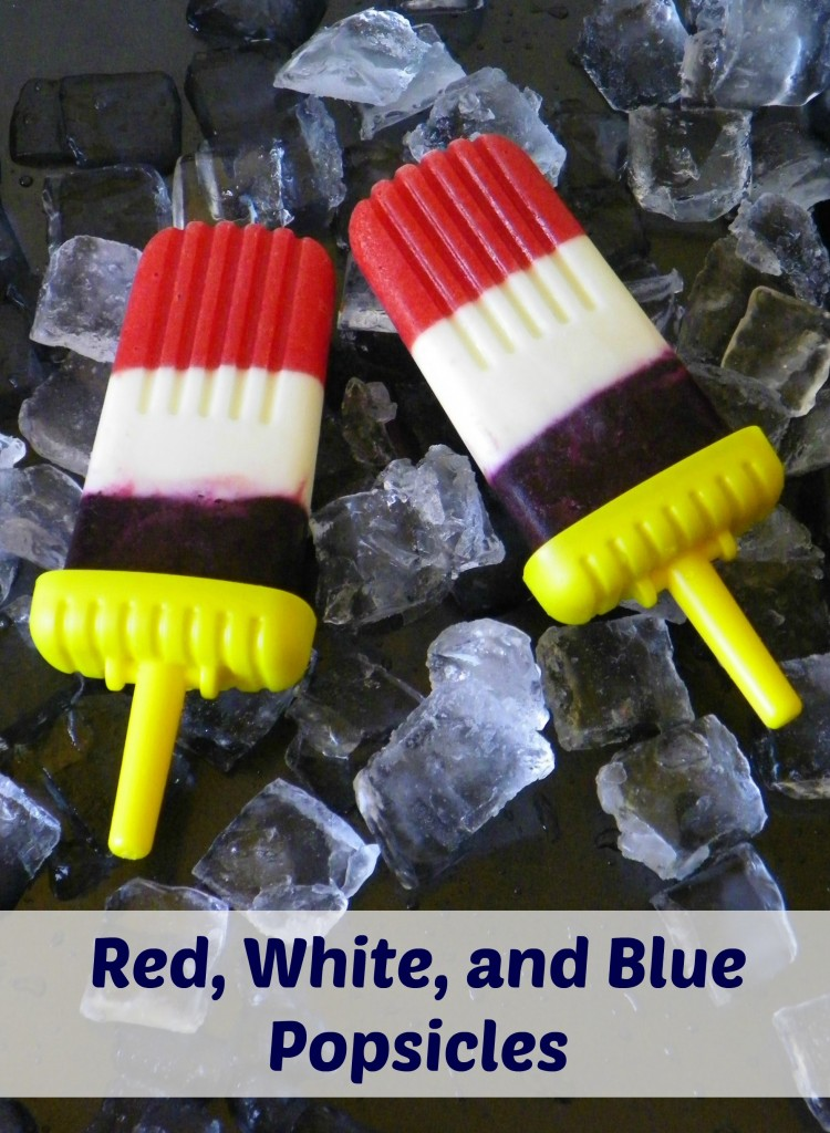 Red, White, and Blue Popsicles (dye-free and all-natural)