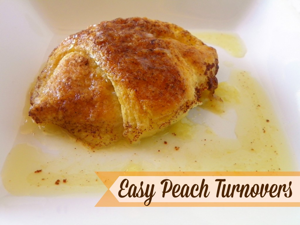 Easy Peach Turnovers by Celebrating Family