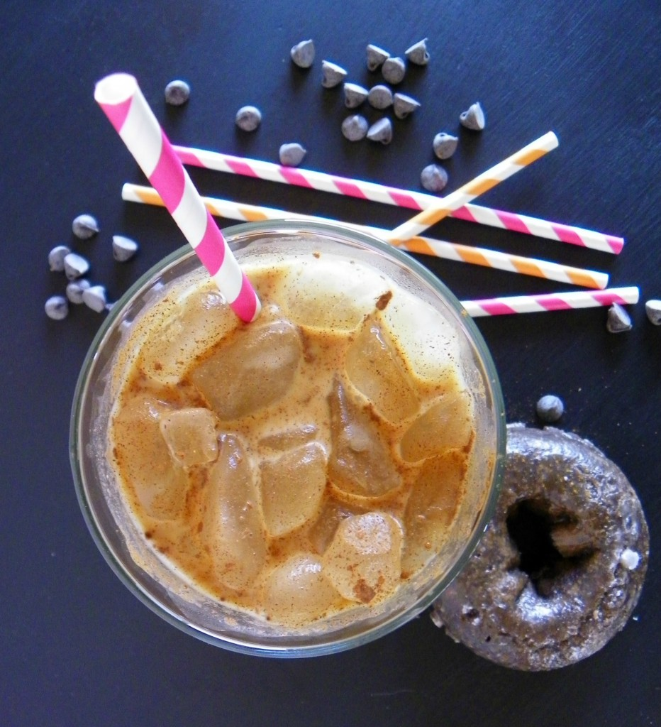 Dunkin Donuts Sweet & Spicy Chocolate Glazed Donut Iced Coffee