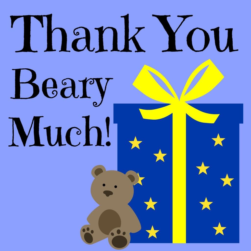 Gummy bear thank you (printable)