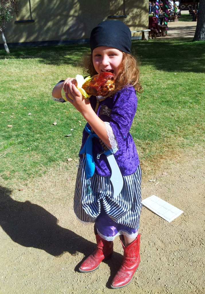 Turkey leg pirate - The Arizona Renaissance Festival