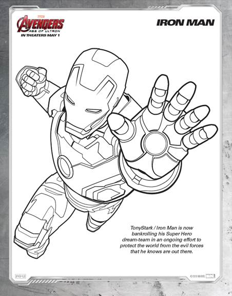 Marvel's Avengers Age of Ultron: Coloring Sheets Your Kids Will Love