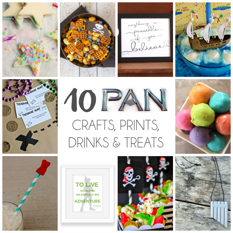 10 Pan Crafts, Prints, Treats & Drinks SQAURE