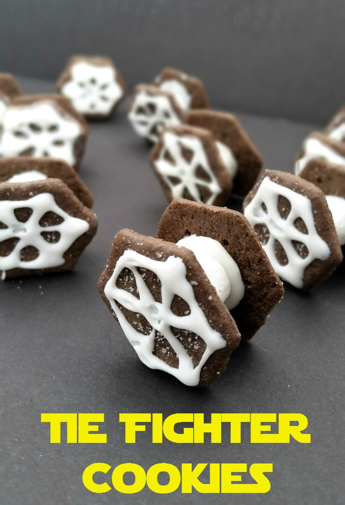 Tie Fighter Cookies by Celebrating Family