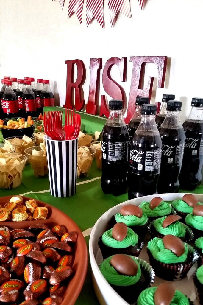 Football Party Food, Decor, and Party Favors