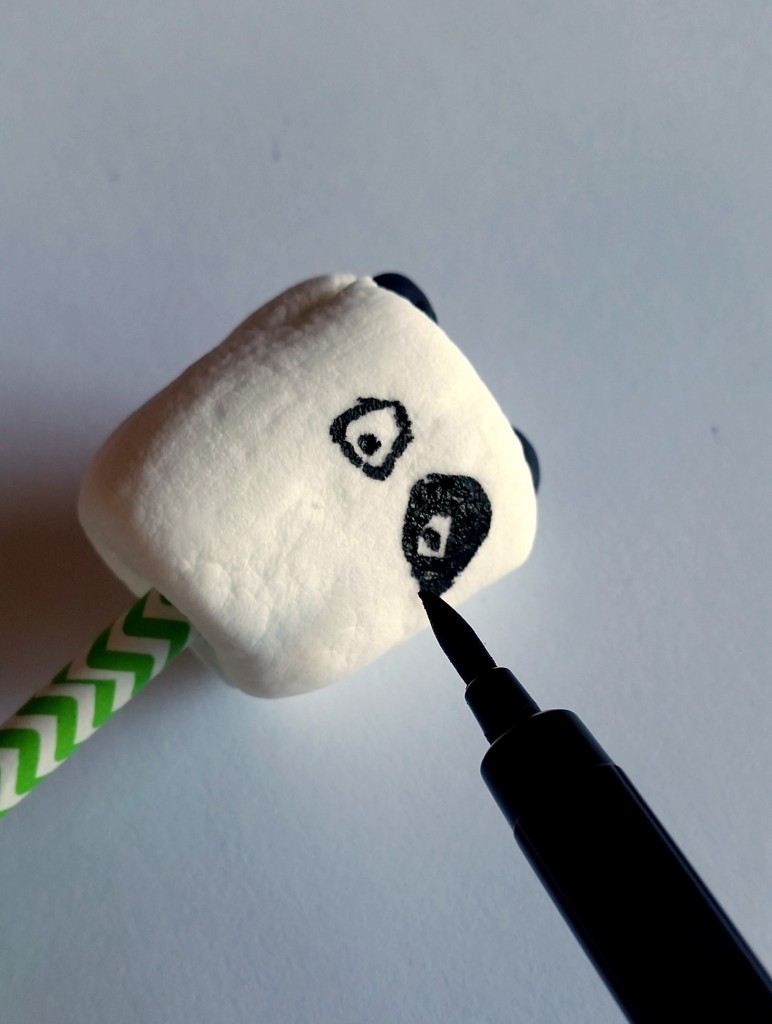 Panda Marshmallow Pops Eyes