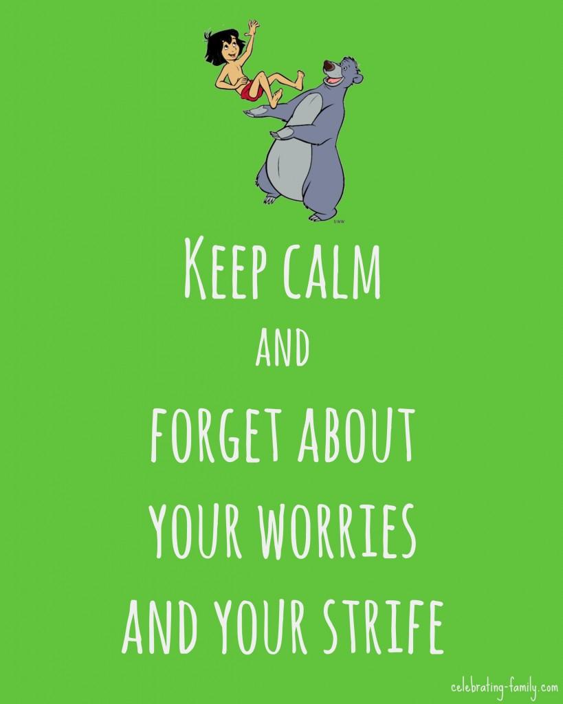 Keep Calm Jungle Book