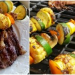 Marinated Veggie Kabobs and Ribeyes #BestSummerBBQ
