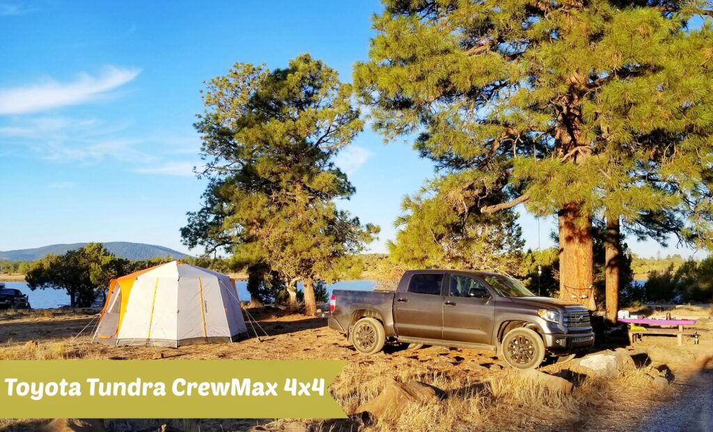 Toyota Tundra CrewMax 4x4 at campsite #celebratingtoyota
