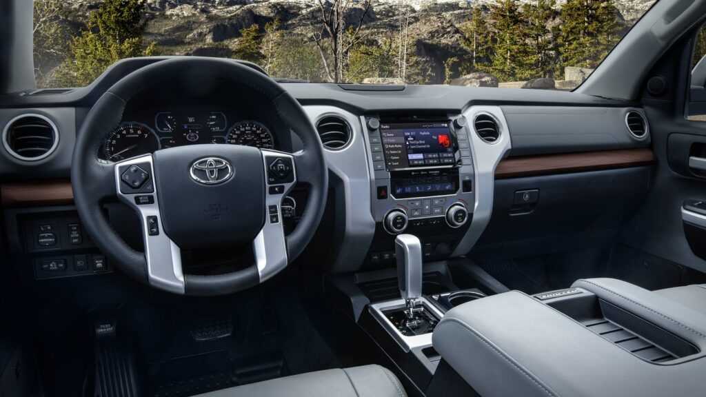 Interior dash of Tundra #celebratingtoyota