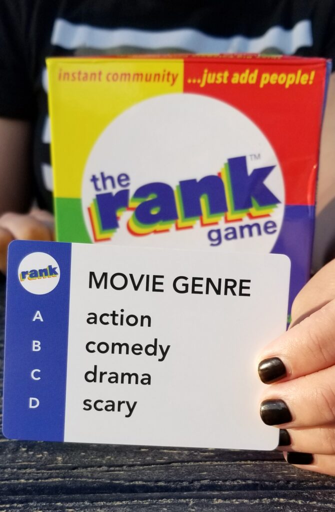 A The Rank Game playing card