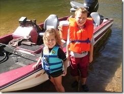 Kiddos and boat