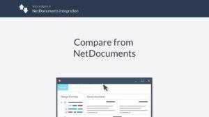 compare from netdocuments 300x169 - Comparación de Workshare en NetDocuments Aptus Legal