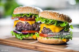 two cheeseburgers to illustrate moderation in a diet
