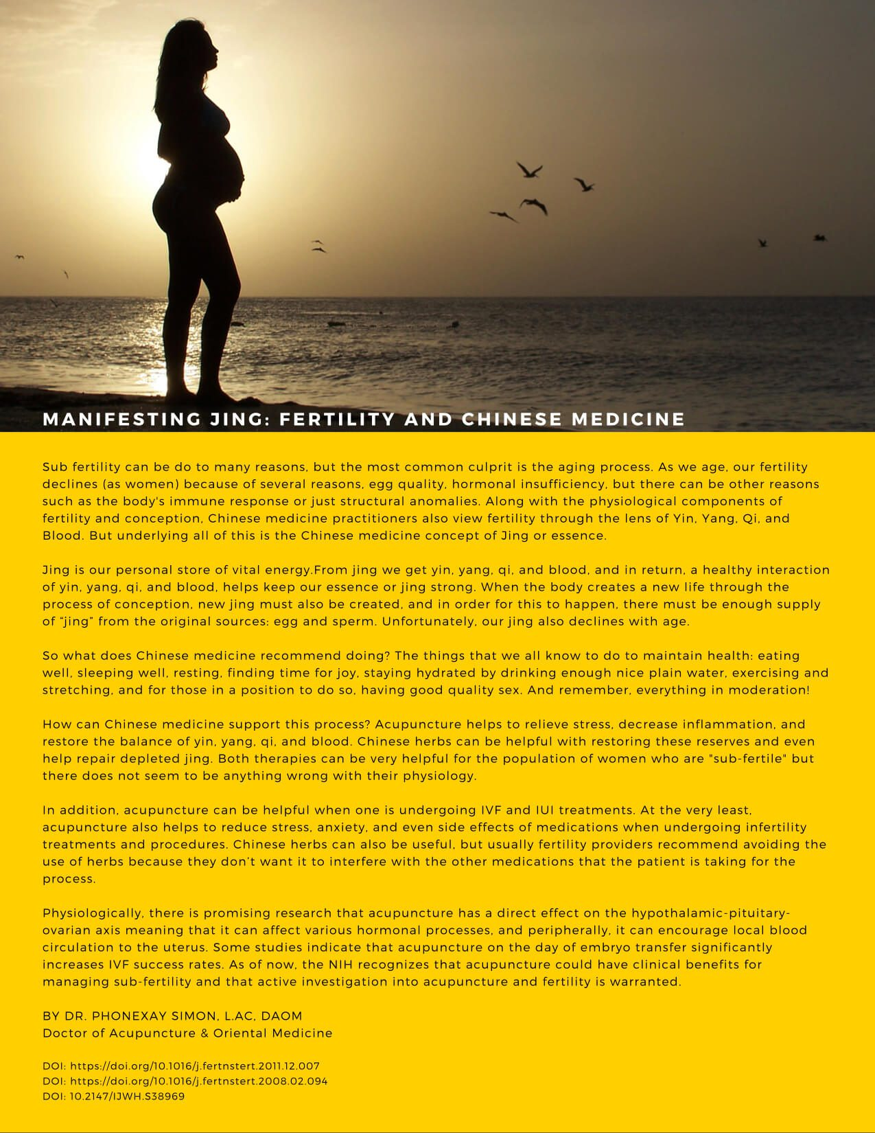 Chinese medicine and Fertility