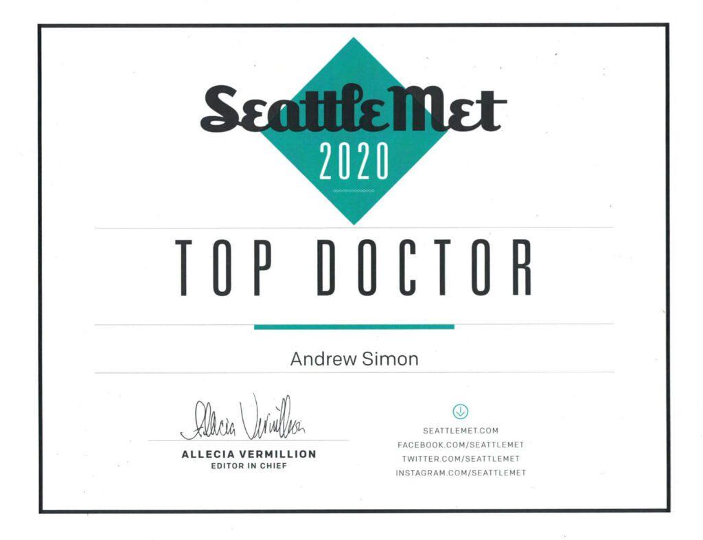 Seattle Met Top Doctor 2020 Naturopathic Medicine