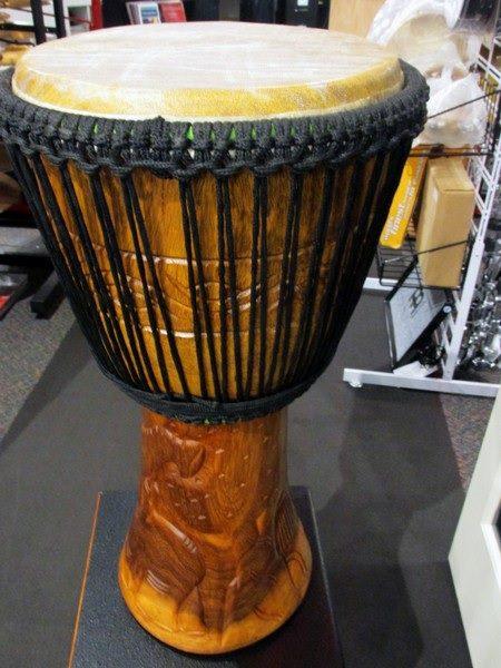 A wooden drum