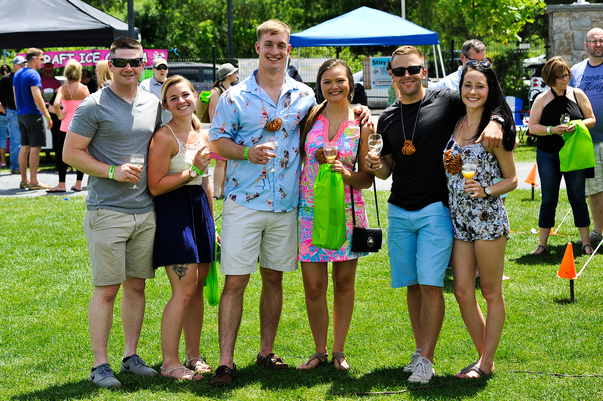 Attendees at the Adirondack Wine and Food Festival