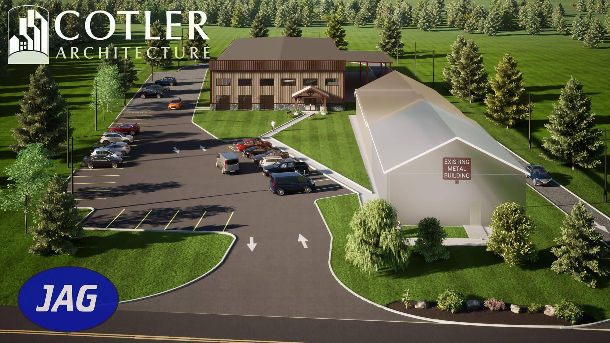 adirondack winery rendering of new building