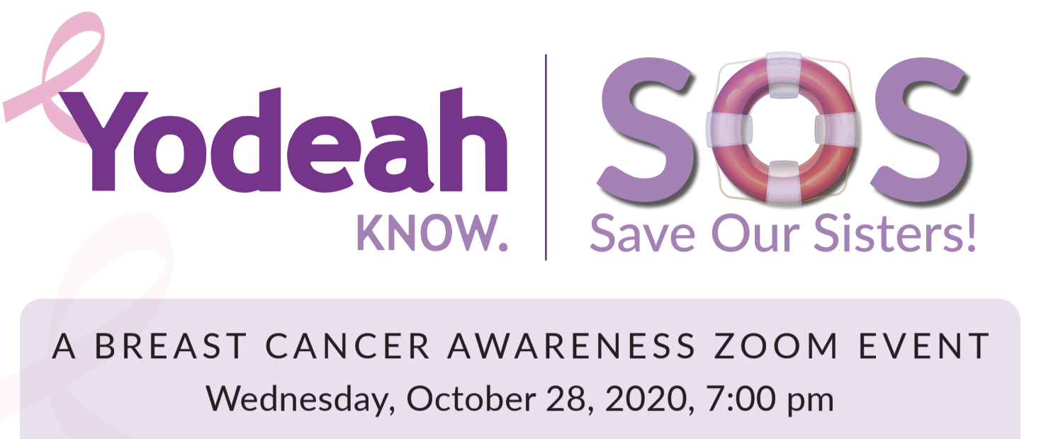 Save Our Sisters! A Breast Cancer Awareness Zoom Event