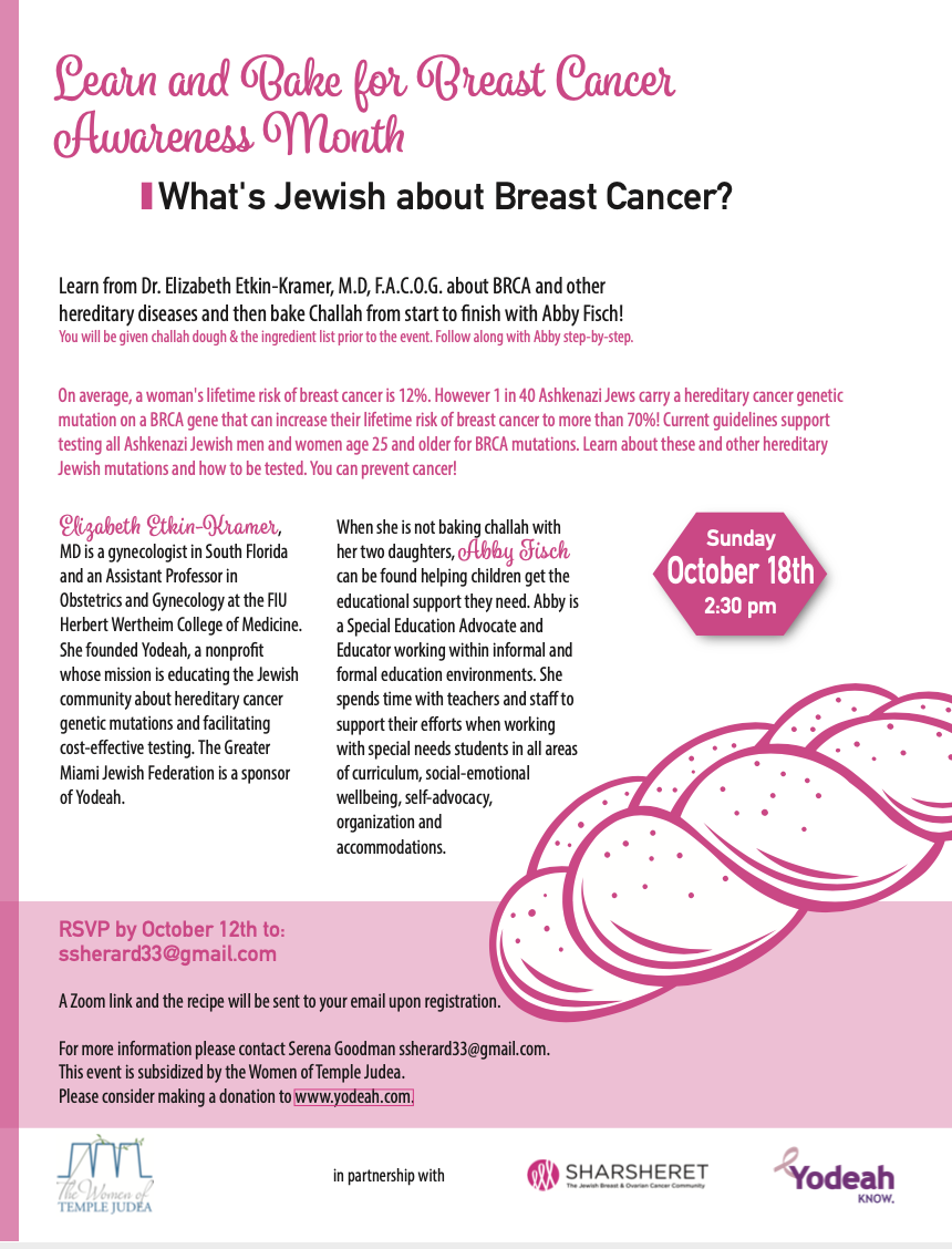Learn and Bake for Breast Cancer Awareness Month