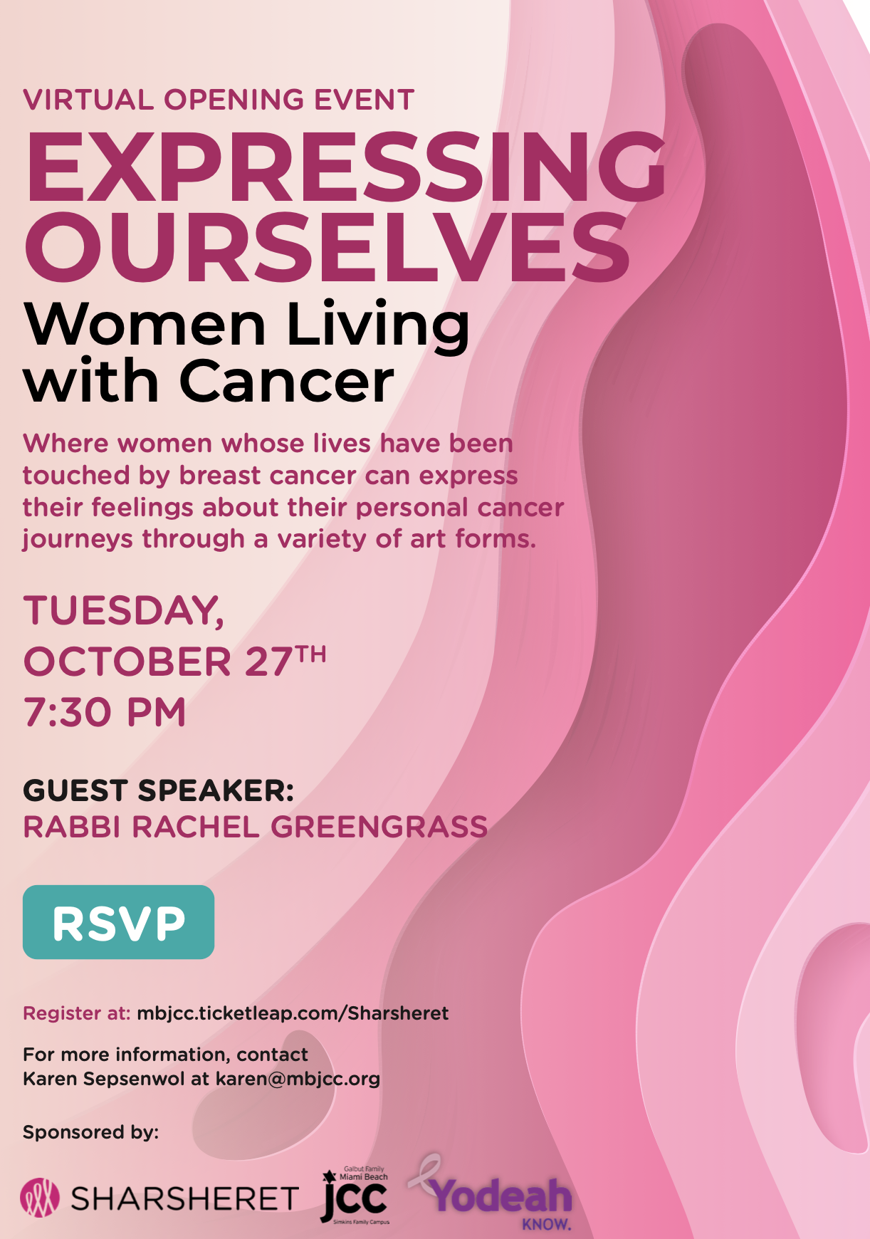 Virtual Opening Event: Expressing Ourselves - Women Living with Cancer