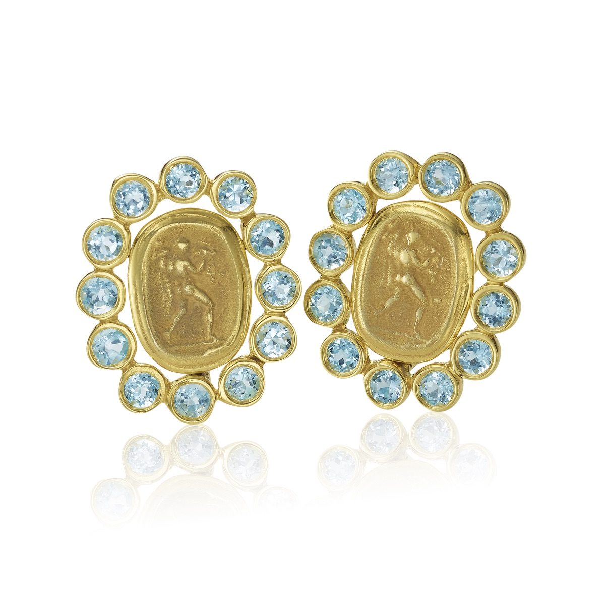 The Jewel - Mazza - Lookbook - Blue and Gold Earrings