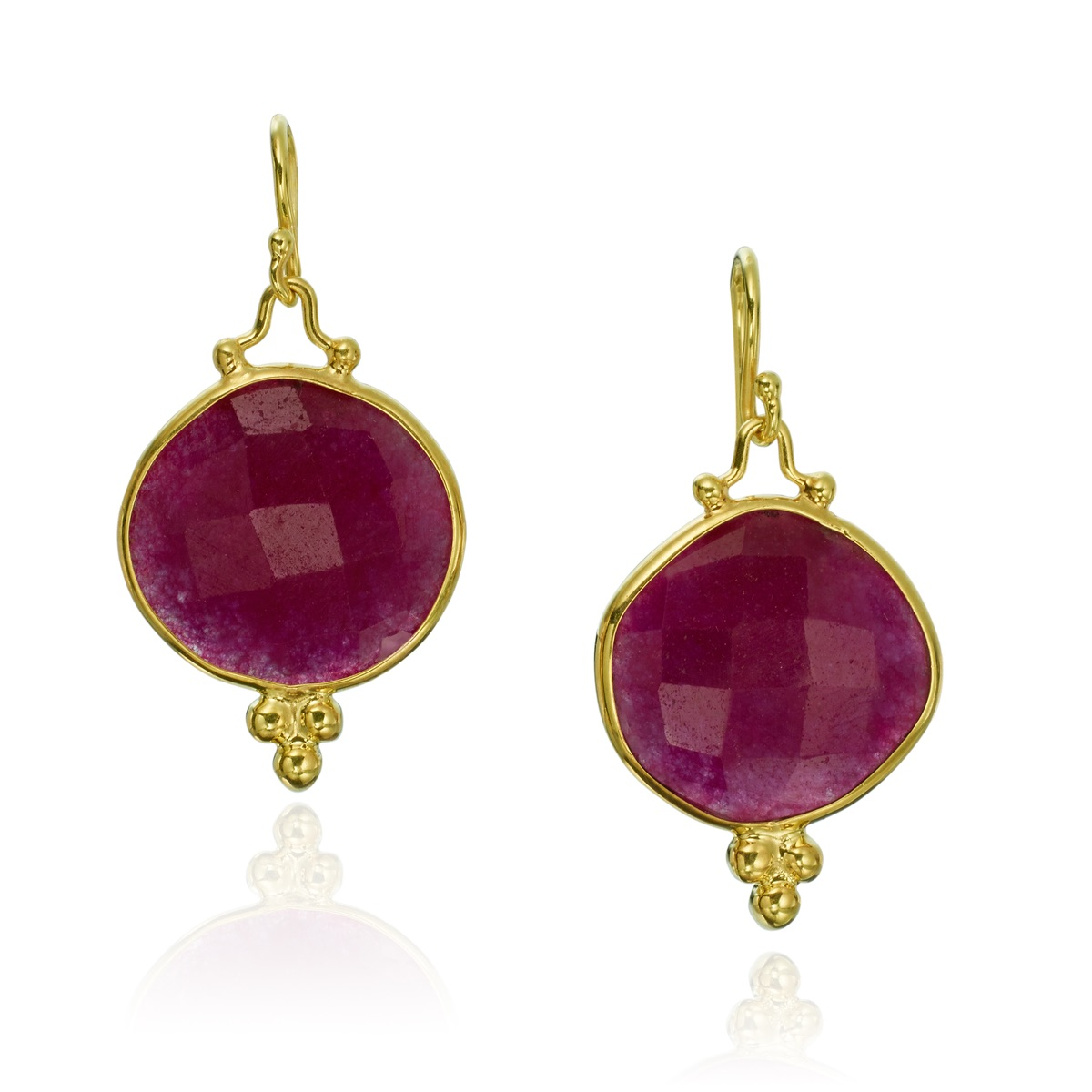 The Jewel - Mazza - Lookbook - Pink and Gold Drop Earrings