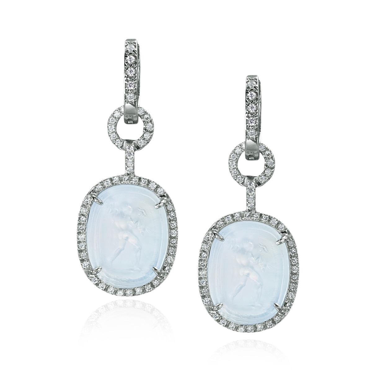 The Jewel - Mazza - Lookbook - Blue Diamond Drop Earrings