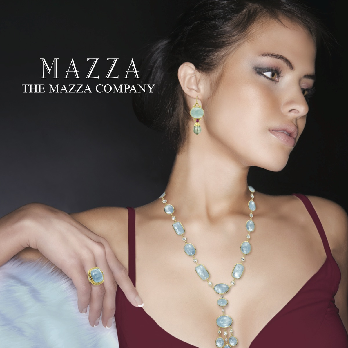 The Jewel - Mazza - Lookbook - Blue and Gold Jewelry