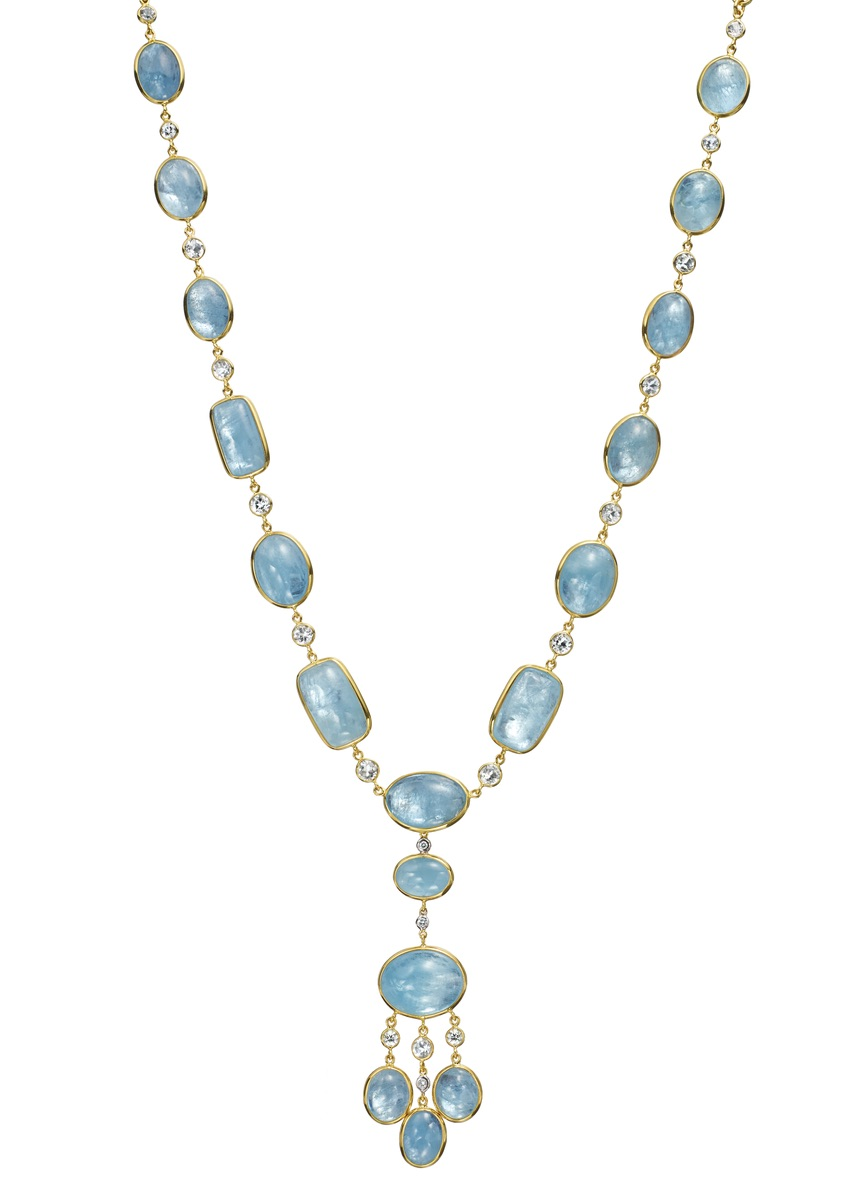 The Jewel - Mazza - Lookbook - Blue and Gold Necklace