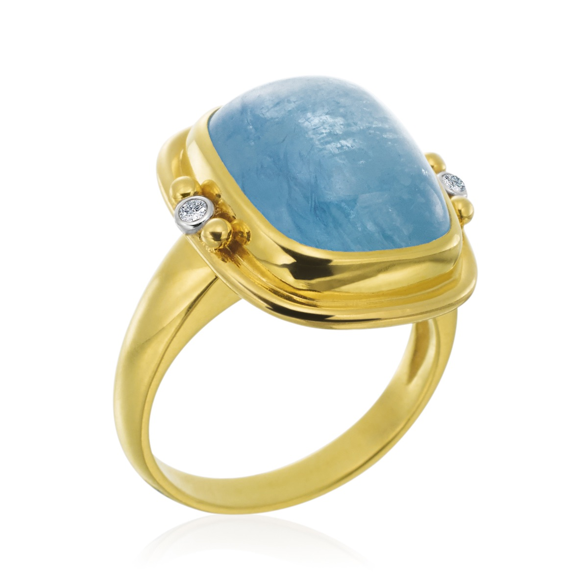 The Jewel - Mazza - Lookbook - Gold and Blue Ring