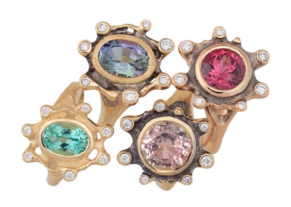 The Jewel - Audrius Krulis Designer - Lookbook - Colorful Gemstone Rings