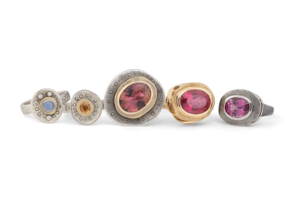 The Jewel - Audrius Krulis Designer - Lookbook - Pink Gemstone Rings