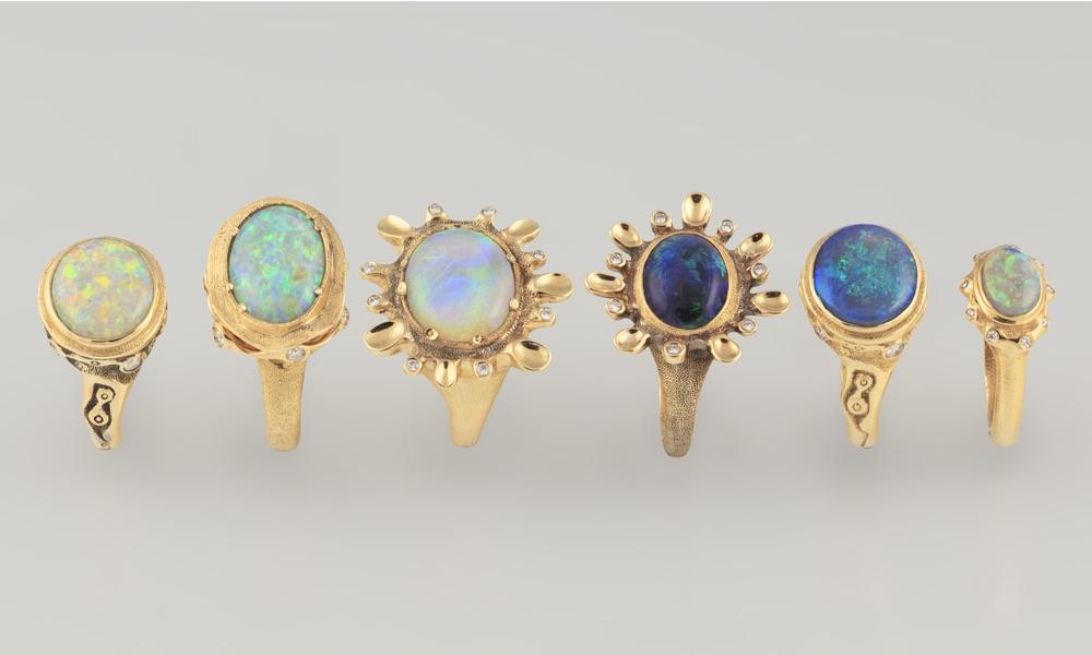 The Jewel - Audrius Krulis Designer - Lookbook - Blue Gemstone Rings