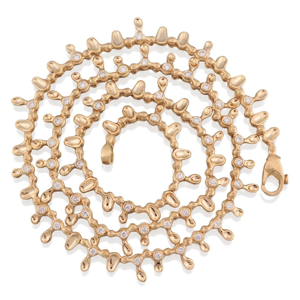 The Jewel - Audrius Krulis Designer - Lookbook - Gold Gem Necklace