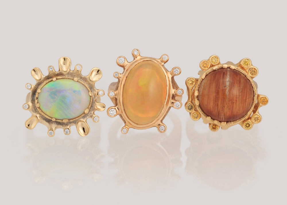 The Jewel - Audrius Krulis Designer - Lookbook - Colorful Gemstone Rings